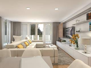 Projecto _Moradia HC - Design de interiores #ContrasteBranco :   por CB | Interior Design