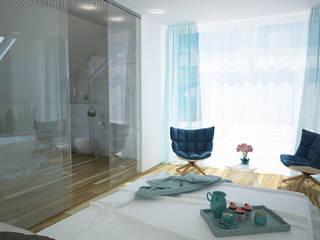 Phòng ngủ theo Tamriko Interior Design Studio,