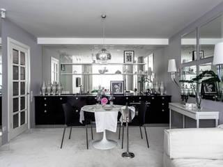 квартира 59 кв.м. для молодой женщины в Самаре: Гостиная в . Автор – Дизайн мастерская Елены Тимченко