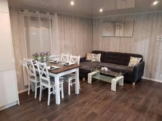 Living room by DMK Budownictwo Dariusz Dziuba Sp. K., Mobilne Domki Letniskowe i Całoroczne, Modern