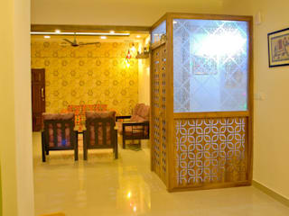 Pooja from dining Modern dining room by Space Collage Modern