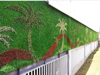 ​Coconut Tree Theme Wall Creation:   by Sunwing Industries Ltd