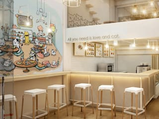 Cat Up Cafe' @ Silom Abilmente Co.,Ltd ร้านอาหาร