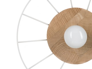 Lampa Druu-L Nuua JadalniaOświetlenie Drewno Biały
