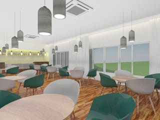 Cafeteria:   by Antar - A Firm of Interior Designers