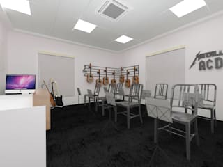 Guitar Room:   by Antar - A Firm of Interior Designers
