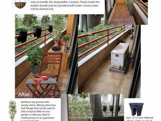 Balcony Makeover Asian style garden by GreenCausa Asian