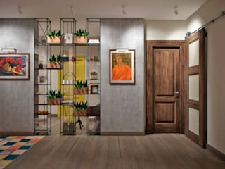 Eclectic style corridor, hallway & stairs by Студия архитектуры и дизайна Дарьи Ельниковой Eclectic