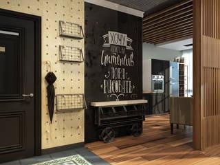 Визуализации проекта в стиле Лофт Коридор, прихожая и лестница в стиле лофт от Alyona Musina Лофт