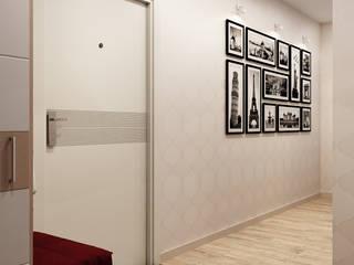 Визуализации проекта для Марины и Владимира Коридор, прихожая и лестница в стиле минимализм от Alyona Musina Минимализм