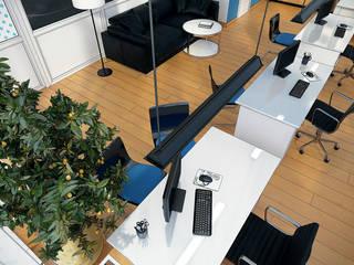 Визуализация офиса продаж Еврострой-С г.Сургут от Alyona Musina Минимализм