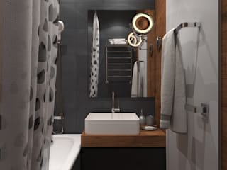 Alyona Musina Industrial style bathroom