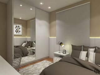Kamar Tidur oleh Caroline Berto Arquitetura , Modern