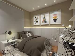 Спальня в эклектичном стиле от Caroline Berto Arquitetura Эклектичный