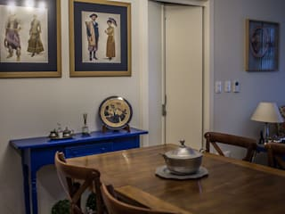 Country style dining room by Luiza Goulart Arquiteta Country