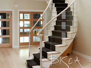 Classic Helical Timber Staircase Bisca Staircases Stairs Wood