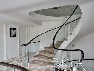 Multi-flight, Multi-Texture, Helical Stairs Design Bisca Staircases Escaleras Hierro/Acero