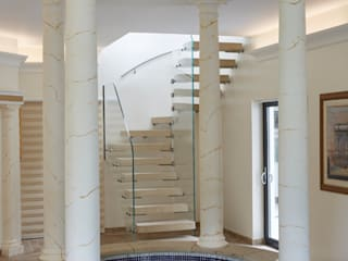 Sandstone Staircase for Pool House and Gym Area Bisca Staircases Escaleras Piedra