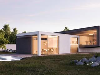 Dom kubistyczny Nowoczesne domy od KA Architekci Nowoczesny