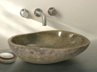Stone Basins: rustic  by Finwood Designs, Rustic