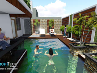 Casas modernas: Ideas, imágenes y decoración de Architech Tacna Arquitectos e Ingenieros Moderno