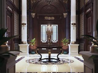 MEDANI MANSION راهرو سبک کلاسیک، راهرو و پله من Belal Samman Architects كلاسيكي