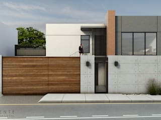 Fachada Principal: Casas de estilo  por TANGENTE ARQUITECTURA LOCAL
