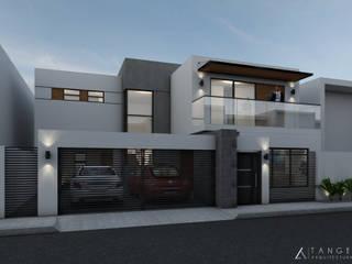 PERSPECTIVA: Casas de estilo  por TANGENTE ARQUITECTURA LOCAL