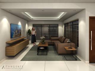 INTERIOR 1: Salas de estilo  por TANGENTE ARQUITECTURA LOCAL