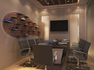 office space :  Study/office by The Design Code