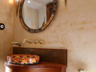 Cerames Tropical style bathrooms Yellow