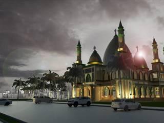 Masjid Raya Persatuan Rumah Gaya Mediteran Oleh Besar Studio Arsitektur Mediteran