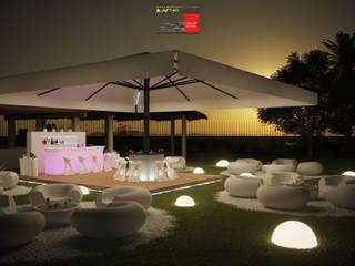 Villa privata - Area lounge/bar: Giardino in stile in stile Moderno di MELLINACORTISTUDIO