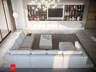 Appartamento privato con piscina: Soggiorno in stile  di MELLINACORTISTUDIO