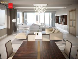 Appartamento privato con piscina: Soggiorno in stile in stile Classico di MELLINACORTISTUDIO