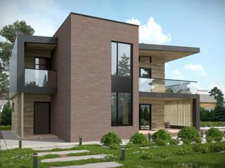 Загородный дом 140 кв. м.: Загородные дома в . Автор – K2 DESIGN