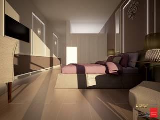 غرفة نوم تنفيذ MELLINACORTISTUDIO