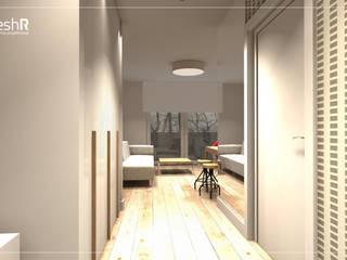 Długie i wąskie - 45m Nowoczesny korytarz, przedpokój i schody od freshR - pracownia projektowa Nowoczesny