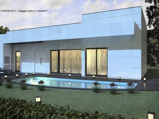 Moradia V3 | Lt. 1 – S. Domingos Rana | a.b. 180,00 m2 (construção LSF/aço leve) : Casas pré-fabricadas  por ATELIER OPEN ® - Arquitetura e Engenharia