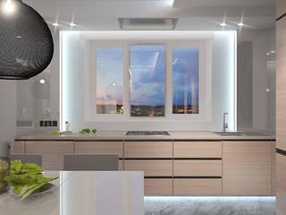 Квартира на Байбакова. Краснодар Dmitriy Khanin Кухня в стиле минимализм Дерево Бежевый