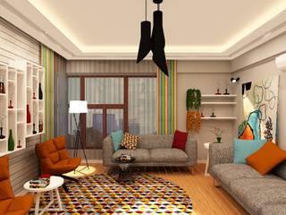Nergiz-Av. Zeki Gümüş Evi Modern Oturma Odası Mozeta Mimarlık Modern