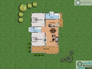 แบบบ้านชั้นเดียวรหัส concept1-18:   by คอนเซ็ปเอ็นจิเนียร์ริ่ง