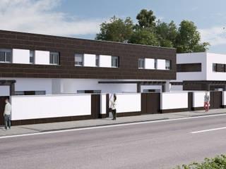 Infografías 3D de Urbanización en Manzanares (Ciudad Real - España): Casas adosadas de estilo  de A3D INFOGRAFIA