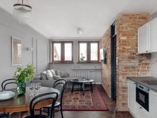 Salas de estar ecléticas por Double Look Design Eclético
