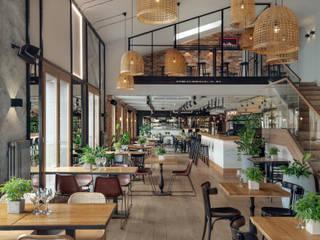Bares e clubes industriais por Double Look Design Industrial