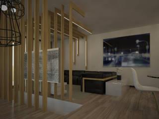 Salones de estilo moderno de INTERNO B Moderno