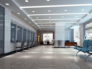 Office Modern office buildings by Eminent Enterprise LLP Modern