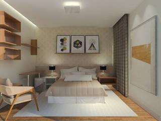 Apartamento residencial por Daniela Ponsoni Arquitetura Eclético