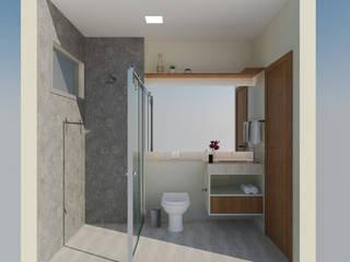 Apartamento residencial Banheiros ecléticos por Daniela Ponsoni Arquitetura Eclético