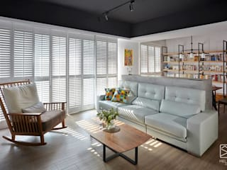 Livings de estilo industrial por 禾廊室內設計